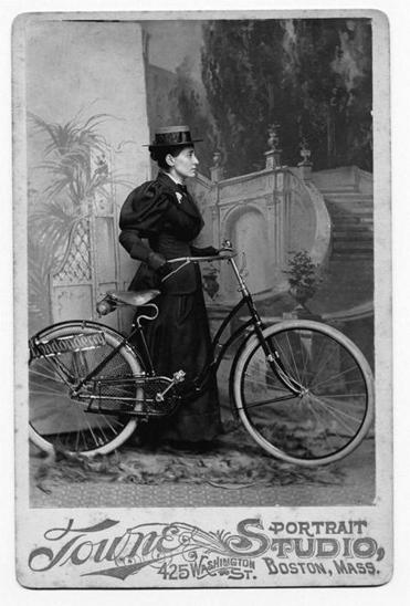 Left, Annie Londonderry of Boston bicycled 7,000 miles on an around-the-world trip she began in 1894 and lasted 18 months.